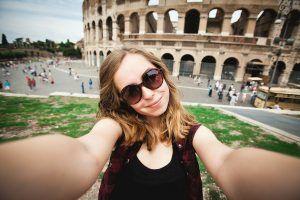 Girl-Rome-selfie-shutterstock_152914343